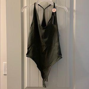 Forever 21 Olive Green Seamless Bodysuit